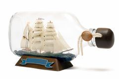 Ship In A Bottle Stock Photography