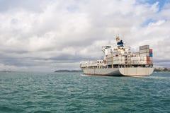 Ship In Hauraki Gulf Stock Photo