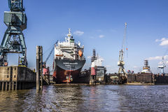 Free Ship In The Drydock Stock Photo - 53349940
