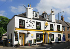 Ship Inn, pub in Melrose, Borders region, Scotland. View of the Ship Inn which is advertised as the only pub in Melrose in the Borders region, Scotland Stock Photography