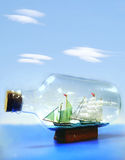 Ship inside a bottle Royalty Free Stock Images