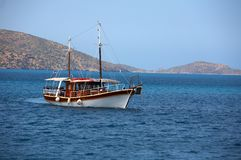 The ship on a islands Royalty Free Stock Image