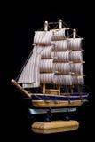 Ship isolated on black Royalty Free Stock Image