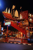 Ship on Jonker street in Malacca Stock Image