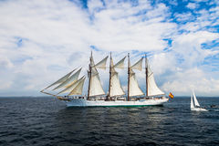 Ship Juan Sebastian de Elcano Royalty Free Stock Images