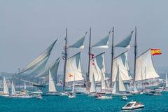 Ship Juan Sebastian de Elcano Stock Images