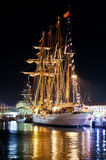 Ship Juan Sebastian Elcano. In Cadiz Great Race held between 26 and 29 July 2102 Royalty Free Stock Image