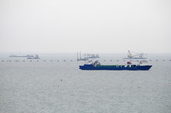 Ship in Kerch Strait Royalty Free Stock Photography
