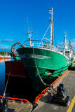 Ship at Killybeg Harbor in Ireland Royalty Free Stock Photos