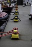 Ship Knots On The Pier Stock Image