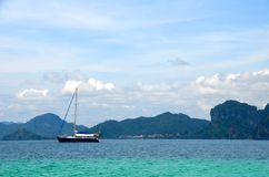 Ship in Krabi, Thailand stock images