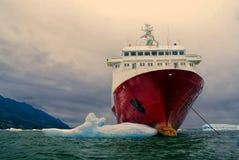 Ship in Laguna San Rafael. Ship anchored in Laguna San Rafael in Chile Royalty Free Stock Image