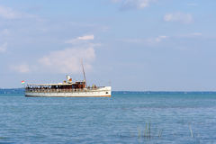 Ship on Lake Balaton stock photo