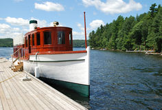 Ship on Lake of Bays. Photo of old style ship on Lake of Bays, Ontario, Canada Stock Photography