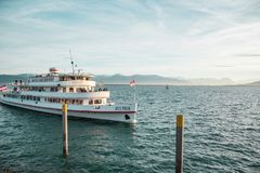 Ship on Lake Constance Royalty Free Stock Photography