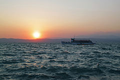 Lake Garda on Sunset Royalty Free Stock Photo