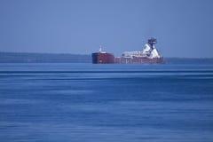 Ship on Lake Michigan. A ship in the waters of Lake Michigan Royalty Free Stock Photo
