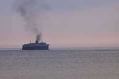 Ship on Lake Michigan Stock Images