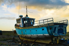 Ship on land. Old ship laying on land royalty free stock images