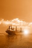 Ship leaving the port Royalty Free Stock Photography