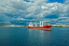 Ship leaving Split port Stock Photos