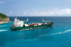 Free Ship Leaving Tropical Port Stock Images - 21284024