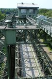 Ship lift in Waltrop, Germany in industrial landscape Stock Image