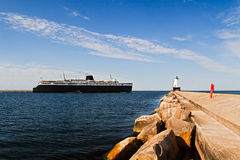 Ship and Lighthouse Stock Photos