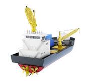 Ship loader with crane  on white background. 3d renderin. G Stock Photography