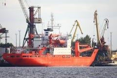 Ship loading Stock Image