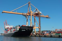 Ship loading in container terminal Stock Photography
