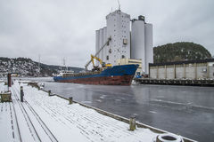 Ship loading grain Royalty Free Stock Photos