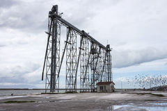 Ship loading grain tower Stock Images