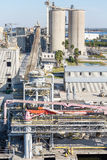 Ship Loading Operation. Shipping operation at a busy industrial port in Tampa Stock Photography