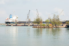 Ship Loading at Sihanoukville Autonomous Port, Cambodia Stock Images