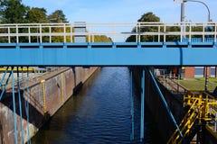 Ship lock. For Inland Shipping Stock Photos