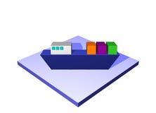 Ship a Logistics Supply Chain Diagram Object. Ship, a logistics supply chain symbol from a series set stock illustration