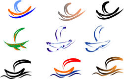 Ship logo Stock Image
