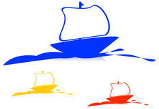Ship Logo royalty free stock image