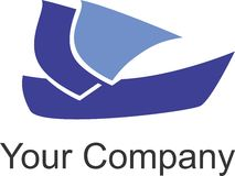 Ship logo Royalty Free Stock Images