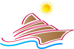 Ship logo. A vector drawing represents ship logo design vector illustration