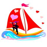 Ship of love Royalty Free Stock Images