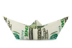 Ship made of money royalty free stock photo