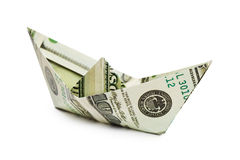 Ship made of money Royalty Free Stock Photography