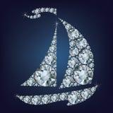 Ship made up a lot of diamonds Stock Photo