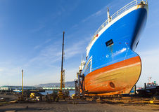 Ship maintenance Royalty Free Stock Image