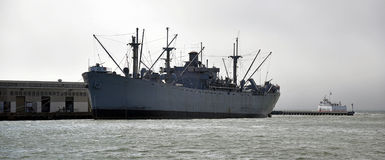 Ship in Marine in San Francisco Stock Image