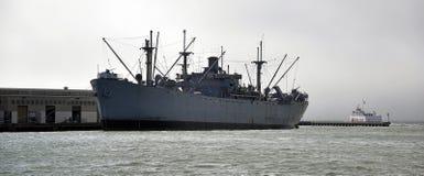 Ship in Marine in San Francisco. Warship in the San Francisco Marine Stock Image