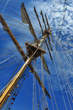 Ship mast. A ship mast against a blue sky Royalty Free Stock Image