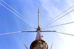 Ship mast. From a sail ship Stock Image